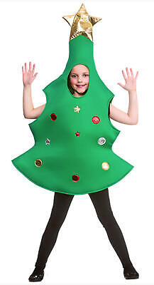 Child Christmas Tree Costume - 10-12 Years - Boys Girls Kid Nativity Play Outfit • 9.99£