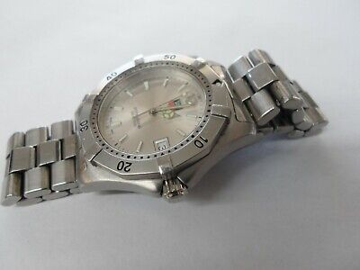 Tag Heuer Wk112-1 Professional Divers Watch 200m Quartz Silver Face Stainless • 219$
