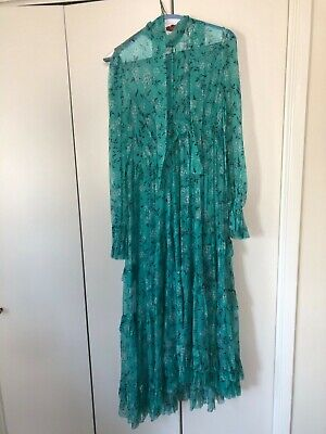 100% Authentic Zimmermann Moncur Gathered Frill Dress Size 2/M • 400$