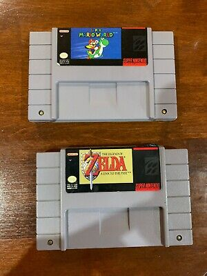 $ CDN45 • Buy Snes Lot - Super Mario World - Zelda A Link To The Past - Super Nintento