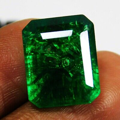 £9.99 • Buy Natural Certified Emerald Cut 8 Ct Untreated Colombian Emerald Loose Gemstone