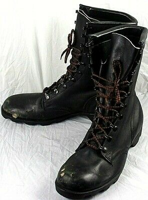 $59.99 • Buy 52055 Mens Military Combat Boots PJ 5-85 US10.5R Black Leather Safety Toe 306