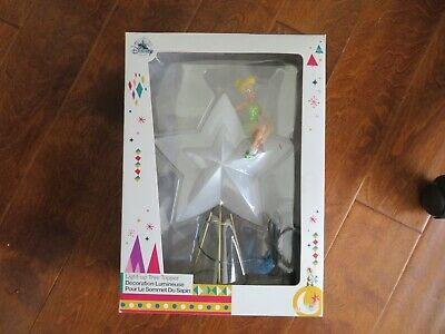 $75 • Buy Disney Tinkerbell Battery Powered Fading In Out Star Led Christmas Tree Topper