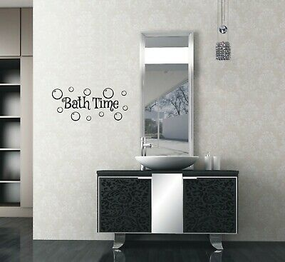Home Decor Bath Time Bubbles Wall Stickers Wall Art Relax Bath Room Word Quote Uk Zx136 Home Garden Gefradis Fr