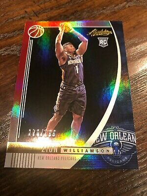 ZION WILLIAMSON 2019-20 Absolute Ruby Red Rookie Card / 199 • 9.99$