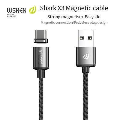 AU10.99 • Buy WSKEN X3 Type-C USB-C Charger Magnetic Charging Cable Fast Charge Braided Cord