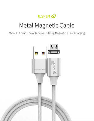AU11.99 • Buy WSKEN X2 Magnetic Metal Micro-USB USB Charger Data Sync Cable For Android 1M/2M
