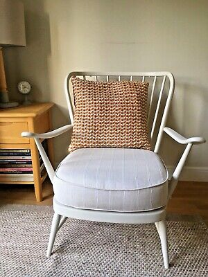 Ercol 203 Windsor Armchair, Refurbished, With Seat Cushion • 265£