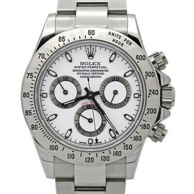 $ CDN41696.49 • Buy Rolex Daytona 116520 Men's Stainless Steel Automatic White 1 Year Warranty