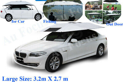 AU189 • Buy New Portable Auto Car Tent Umbrella Sun Shade Roof Cover UV Outdoor With Stand