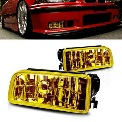 $27.29 • Buy For BMW 3-Series E36/M3 92-98 Factory Replacement Fit Fog Lights Yellow Lens