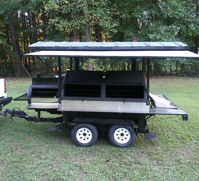 Custom Built  ROTISSERIE  BBQ Grill/ Smoker/ Trailer • 6,500$