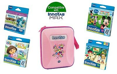 Vtech InnoTAB Max Game & Carry Case Bundle Pink 4-6 Years (4 Games + 1 Case) • 22.49£