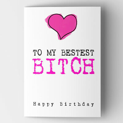 £2.99 • Buy Funny Rude Cheeky Humorous Birthday Card For Sister Best Friend Girlfriend