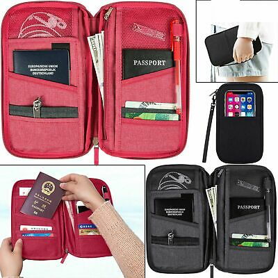 AU8.28 • Buy Travel Wallet Passport Holder RFID Organiser Pouch For Cards Documents IDS Money