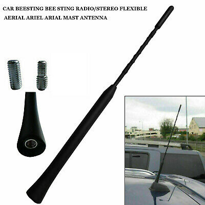9'' Car Beesting Bee Sting Radio/Stereo Flexible Aerial Ariel Arial Mast Antenna • 2.89£