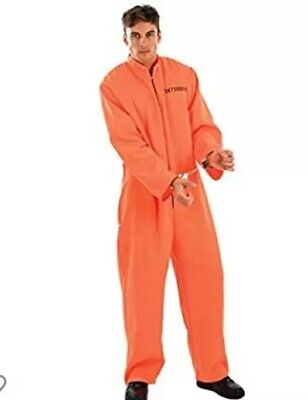 Fancy Dress Prisoner Customer Orange Size Medium Worn Once • 10£