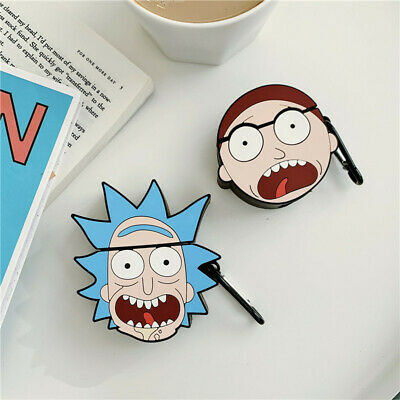 $ CDN7.83 • Buy For AirPods Case Protective 3D Rick Morty Silicone Earphone Charging Cover