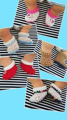 Baby Shoes Boots Boottees Hand Crochet • 1.50£