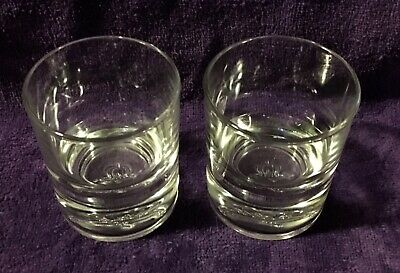 Vintage Crown Royal Heavy Bottom Signature Glasses Floating 3D Crown And Pillow • 9.95$