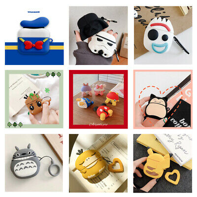 AU6.39 • Buy 3D Cute Cartoon Silicone Charging Case Cover Skin Protective For AirPods 1/2/Pro