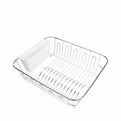 AU26.50 • Buy New D.line Small Dish Drainer Chr/Pvc W/ Utensil Caddy White