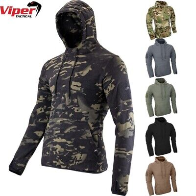 Viper Fleece Hoodie Mens S-3xl Thermal Top Army Mtp Vcam Camo Tactical Sports • 22.95£