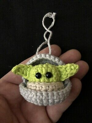 $23.99 • Buy New! Baby Yoda Crochet Figure The Mandalorian Handmade Star Wars Ornament Xmas