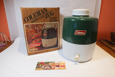 $39.95 • Buy Vintage Coleman Snow Lite 2 Gallon Jug Green White In Box 1985 Water Cooler
