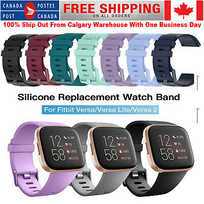 $ CDN8.50 • Buy Band Strap For Fitbit Versa 1 2 Lite Soft Silicone Sports Bands Fitness Bracelet