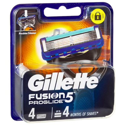 AU17.50 • Buy Gillette Fusion 5 ProGlide Razor Blade Refill 4 Pack  Made In Germany