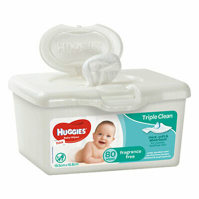 AU10.39 • Buy NEW Huggies Wipes Tub Unscented - 80 Wipes