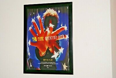 £11.99 • Buy THE CURE Framed A4 Rare Original 2001 ` Greatest Hits ` ALBUM Promo Poster
