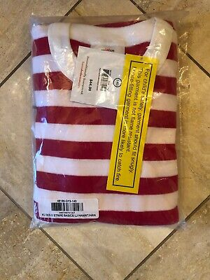$22.99 • Buy NWT Hanna Andersson Red/White Striped Pajamas 140 10