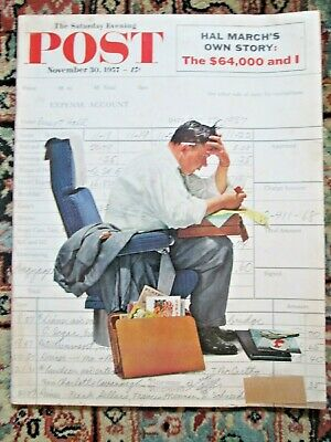 $ CDN31.78 • Buy Nov. 30, 1957 SATURDAY EVENING POST Norman Rockwell Cover Red Grange Football