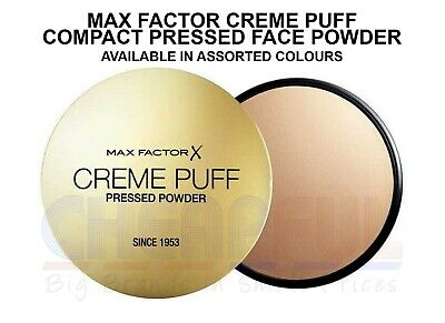 Max Factor Creme Puff Pressed Face Powder Compact 21g - Multi Shades • 4.64£