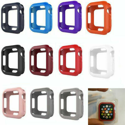 $ CDN3.73 • Buy For Apple Watch IWatch Series 4 40/44mm Silicone Soft Cover Frosted Case BUS