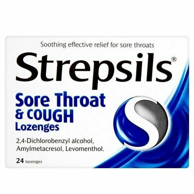 Strepsils Sore Throat And Cough Lozenges New • 7.82£