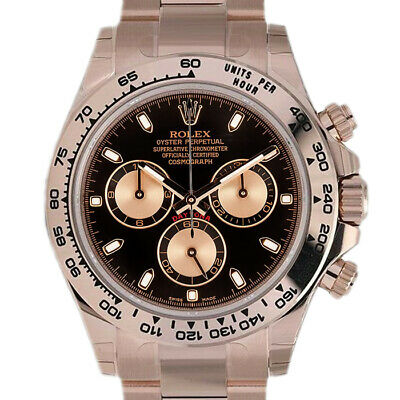 $ CDN51178.48 • Buy Rolex Daytona 116505 Men's Rose Gold Automatic Black 1 Year Warranty