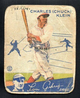 $36.50 • Buy CHARLES CHUCK KLEIN   Cubs    1934 GOUDEY #10