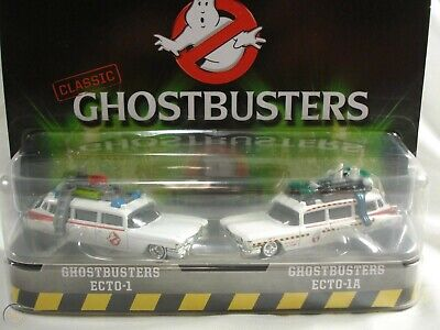 Hot Wheels Ghostbusters Ecto-1 And Ghostbusters Ecto-1A 2 Pack Movie Cars • 14.47£