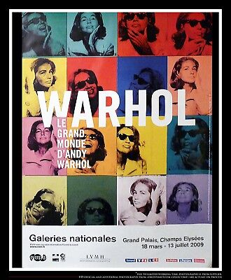 $1889 • Buy EXHIBITION ANDY WARHOL 4x6 Ft Bus Shelter Movie Poster Original 2009
