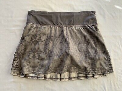 $30 • Buy Lululemon Women's Run Speed Skirt Skort Yoga Gym Workout Snowy Owl Gray Size 4