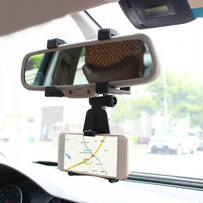 $4.70 • Buy Universal Car Accessories Rearview Mirror Cell Phone Stand Holder Cradle Mount