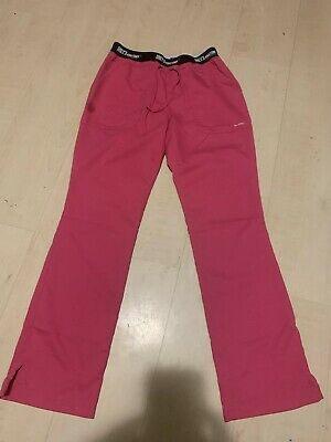 $24.99 • Buy Grey's Anatomy Barco Scrub Bottoms Pants Active Fit Women's Small Pink