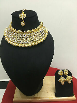$15 • Buy NEW Indian Bollywood Style Gold Plated Wedding Bridal Jewelry Necklace Set