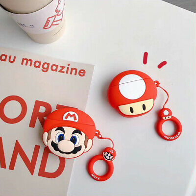 $ CDN6.29 • Buy For AirPods Pro 2 1 Case 3D Mario Mushroom Silicone Earphone Charging Cover