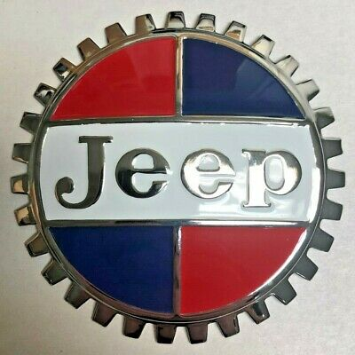 $29.95 • Buy NEW Indoor/Outdoor Vintage Jeep Badge Emblem- Adhesive Backed- Chromed Brass