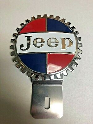 $34.95 • Buy NEW Vintage Jeep License Plate Topper - Chromed Brass - Great Gift Item!
