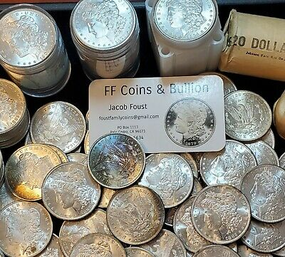 $52.97 • Buy (one) Ms Bu+ Morgan Silver Dollar From Estate Lot Roll Gorgeous High Grade Wow!!